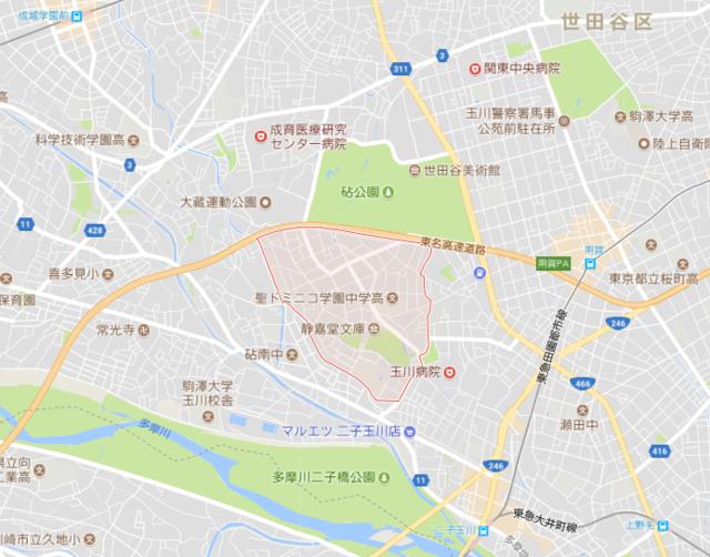 岡田准一家の場所.PNG